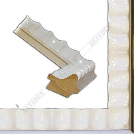 ASO336.44.192 60x45 - biała lakierowana rama do obrazów i luster